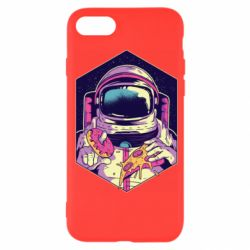 Чехол для iPhone 7 Astronaut with donut and pizza