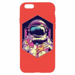 Чехол для iPhone 6/6S Astronaut with donut and pizza