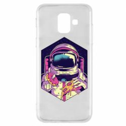 Чехол для Samsung A6 2018 Astronaut with donut and pizza