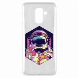 Чехол для Samsung A6+ 2018 Astronaut with donut and pizza