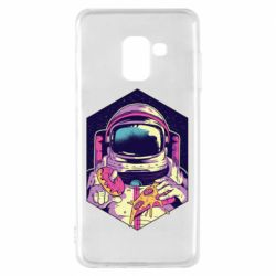 Чехол для Samsung A8 2018 Astronaut with donut and pizza