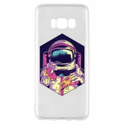 Чехол для Samsung S8 Astronaut with donut and pizza