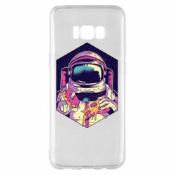 Чехол для Samsung S8+ Astronaut with donut and pizza