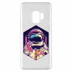 Чехол для Samsung S9 Astronaut with donut and pizza