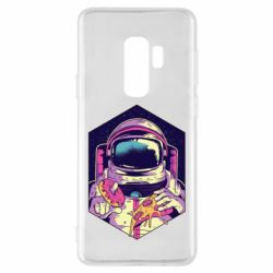 Чехол для Samsung S9+ Astronaut with donut and pizza