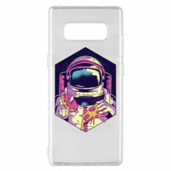 Чехол для Samsung Note 8 Astronaut with donut and pizza