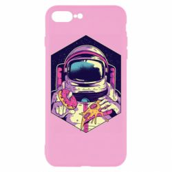 Чехол для iPhone 8 Plus Astronaut with donut and pizza