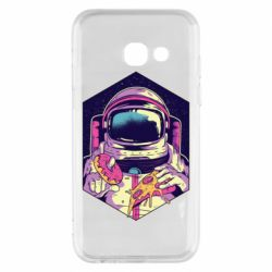 Чехол для Samsung A3 2017 Astronaut with donut and pizza