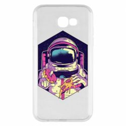 Чехол для Samsung A7 2017 Astronaut with donut and pizza
