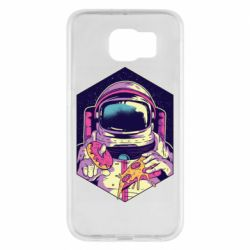 Чехол для Samsung S6 Astronaut with donut and pizza