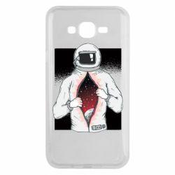 Чехол для Samsung J7 2015 Astronaut with spaces inside