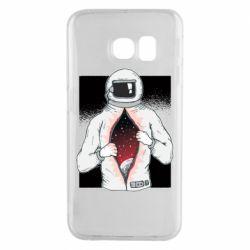 Чехол для Samsung S6 EDGE Astronaut with spaces inside