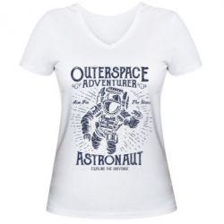 Жіноча футболка з V-подібним вирізом Astronaut