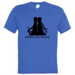 Чоловіча футболка з V-подібним вирізом Asuna and Kirito