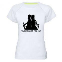 Жіноча спортивна футболка Asuna and Kirito