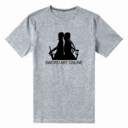 Чоловіча стрейчева футболка Asuna and Kirito