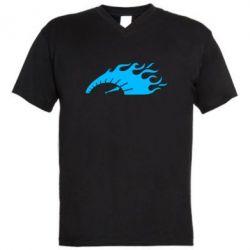 Мужская футболка  с V-образным вырезом At speed