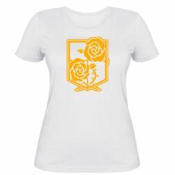Жіноча футболка Атака на титанів, емблема