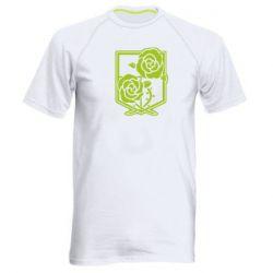 Чоловіча спортивна футболка Атака на титанів, емблема