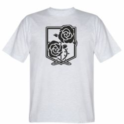 Чоловіча футболка Атака на титанів, емблема