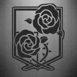 Наклейка Атака на титанів, емблема