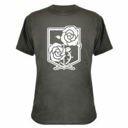 Камуфляжна футболка Атака на титанів, емблема