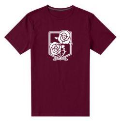 Чоловіча стрейчева футболка Атака на титанів, емблема