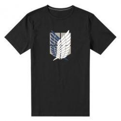 Чоловіча стрейчева футболка Атака титанів