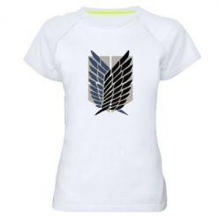 Жіноча спортивна футболка Атака титанів