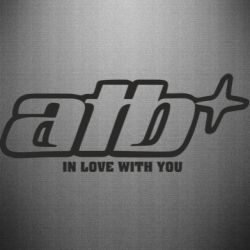 Наклейка Atb in love with you  dj