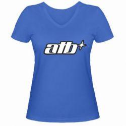 Женская футболка с V-образным вырезом ATB - FatLine