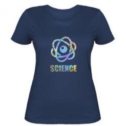 Жіноча футболка Atom science