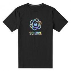 Чоловіча стрейчева футболка Atom science
