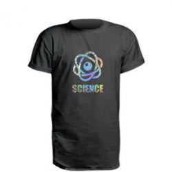 Подовжена футболка Atom science