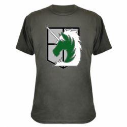 Камуфляжна футболка Attack on Titan symbol