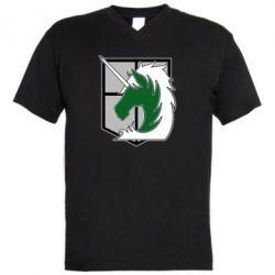 Чоловіча футболка з V-подібним вирізом Attack on Titan symbol