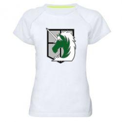 Жіноча спортивна футболка Attack on Titan symbol