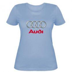 Женская футболка Audi 3D Logo - FatLine
