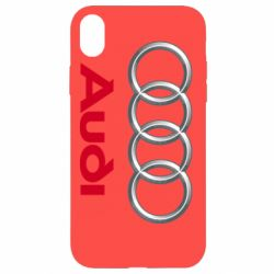 Чохол для iPhone XR Audi 3D Logo