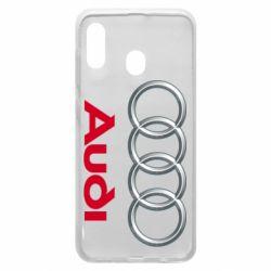 Чохол для Samsung A20 Audi 3D Logo