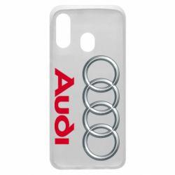 Чохол для Samsung A40 Audi 3D Logo