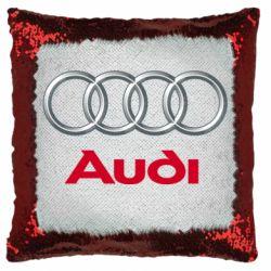 Подушка-хамелеон Audi 3D Logo