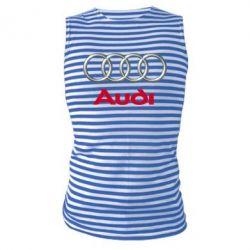 Майка-тельняшка Audi 3D Logo - FatLine
