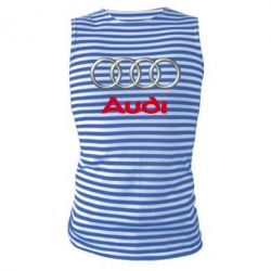 Майка-тельняшка Audi 3D Logo