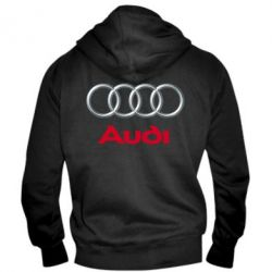 Мужская толстовка на молнии Audi 3D Logo - FatLine