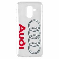 Чохол для Samsung A6+ 2018 Audi 3D Logo