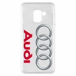 Чохол для Samsung A8 2018 Audi 3D Logo