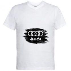 Чоловіча футболка з V-подібним вирізом Ауді арт, Audi art