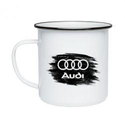 Кружка емальована Ауді арт, Audi art