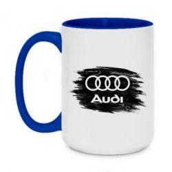 Кружка двоколірна 420ml Ауді арт, Audi art